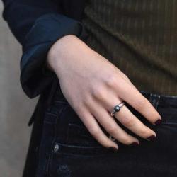Perle-schwarz-Ring