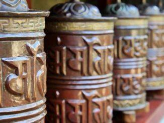 tibetische Gebetsmuehlen prayer wheels