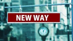 neue-Wege-Schild