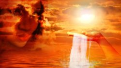 Verlust und Tod gesicht wolken seele