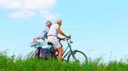 Milz ehepaar-fahrrad-person