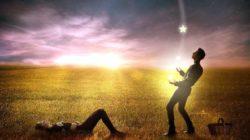 Männliche und Weibliche Schutzmechanismen mann frau stern himmel man