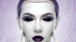 Psychologische Projektion frau gesicht maske woman