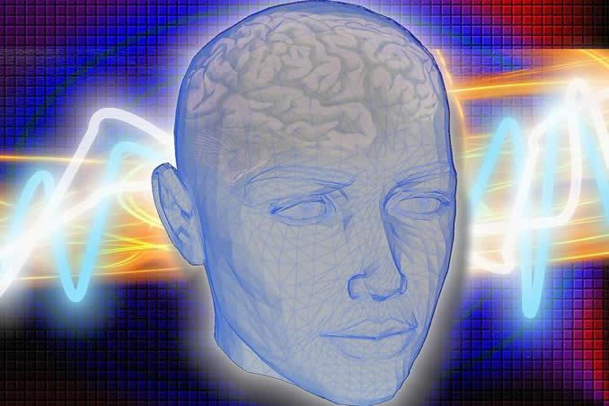 Wirkung von Frequenzen Kopf gitter head