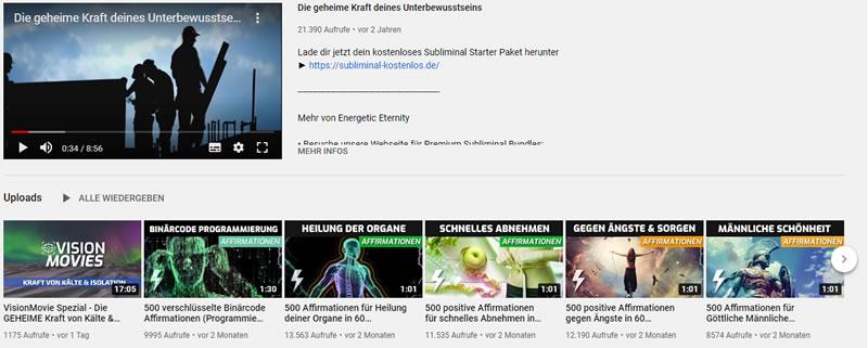 youtube kanal subliminal