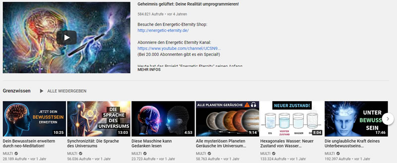 youtube kanal energetic eternity
