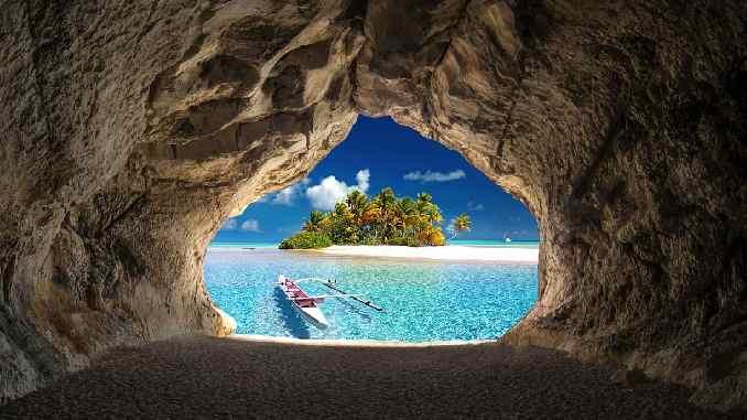 grotte meer boot huna cave