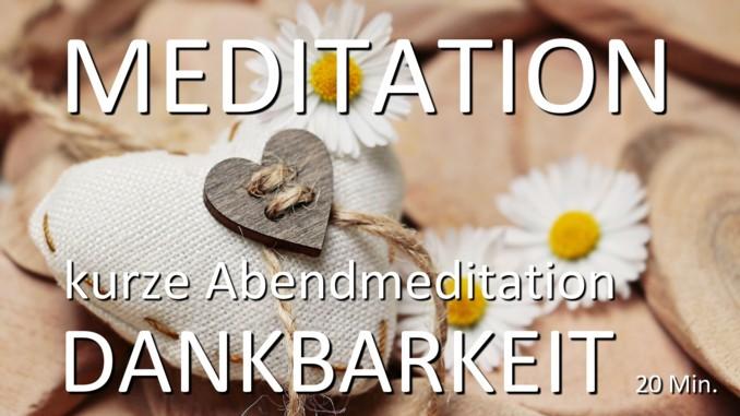 Meditation Dankbarkeit