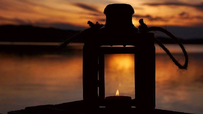lampe sonnenuntergang sunset