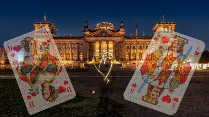 Bundestagswahl 2021 bundestag Herz Dame König