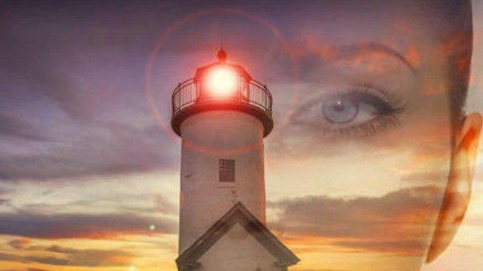 frau gesicht leuchtturm lighthouse